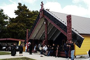 Pukawa - Wharenui, Manunui-a-Ruakapanga Marae, Pūkawa, November 2006