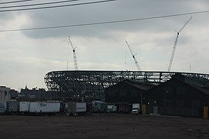 Red Bull Arena (New Jersey) -  Red Bull Arena under construction in Harrison, New Jersey on March 10, 2009.