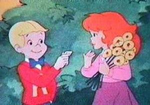 Richie Rich (1980 TV series) - Richie Rich and Gloria, in a scene from Hanna-Barbera's Richie Rich series