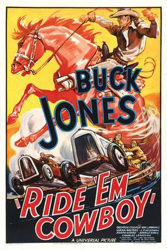 Ride 'Em Cowboy (1936 film) - Theatrical release poster