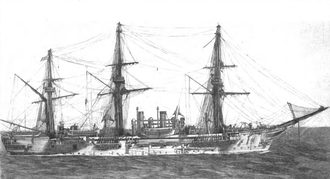 SMS Charlotte - Illustration of Charlotte underway