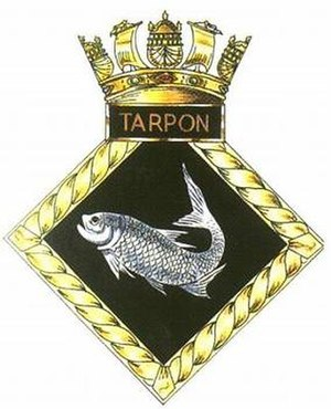 HMS Tarpon (N17) - Image: TARPON badge 1