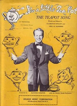 I'm a Little Teapot - Image: Teapot song sheet music cover