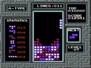 Screenshot of the NES version of Tetris