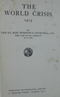 <i>The World Crisis</i> book by Winston Churchill