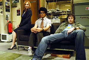 Jen, Moss, and Roy