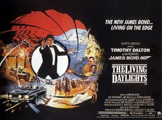 The Living Daylights - British cinema poster for The Living Daylights, illustrated by Brian Bysouth