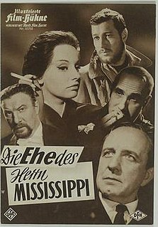 <i>The Marriage of Mr. Mississippi</i> 1961 film by Kurt Hoffmann