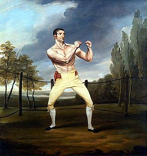 Thomas Douglas Guest - The boxer Thomas Belcher painted by Guest.