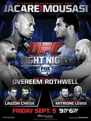 UFC Fight Night: Jacaré vs. Mousasi - Image: UFN 50 event poster