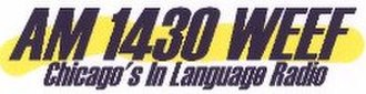 WEEF - Image: WEEF AM1430Chicago logo