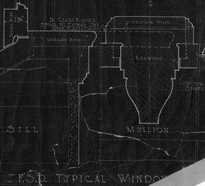 Hillside Elementary School - Detail from original blueprints