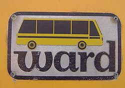 A logo used on the side of Ward buses until 1986.