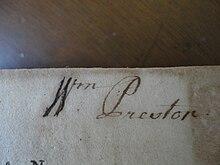 Alt William Preston's Signature