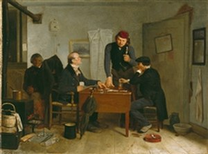 Richard Caton Woodville - Image: Woodville The Card Players