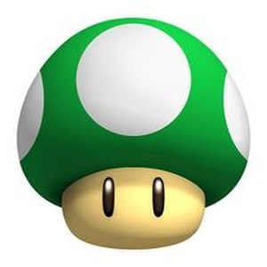 1-up - A 1-up Mushroom from the Super Mario series.