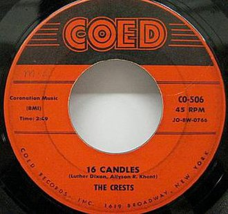 16 Candles (song) - Image: 16candles single