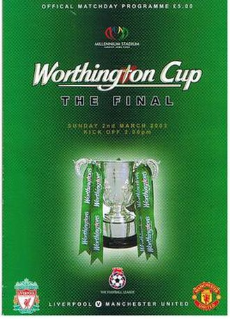 2003 Football League Cup Final - Match programme cover