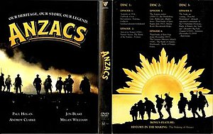 Anzacs (TV series) - DVD cover