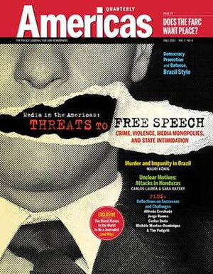Americas Quarterly - The Fall 2013 cover of Americas Quarterly on Free Speech in the Americas