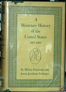 A Monetary History of the United States (1st edition) cover.jpg