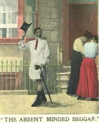 The Absent-Minded Beggar - Humorous postcard