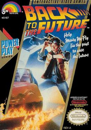 Back to the Future (1989 video game) - Cover art