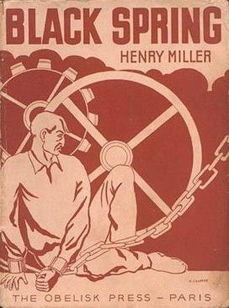 Black Spring (novel) - First edition cover, Paris, 1936