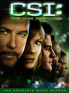 <i>CSI: Crime Scene Investigation</i> (season 6) Season of American television series CSI: Crime Scene Investigation