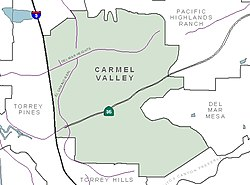Carmel Valley community boundaries and surrounding communities
