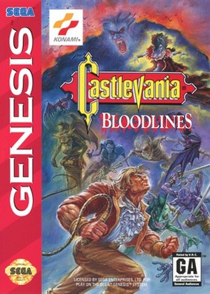 Castlevania: Bloodlines - North American box art