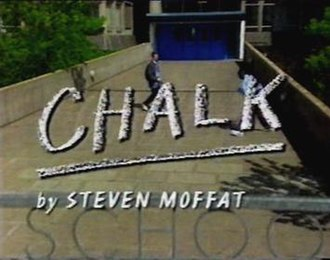 Chalk (TV series) - Opening title. A crane shot descends outside of Galfast High.
