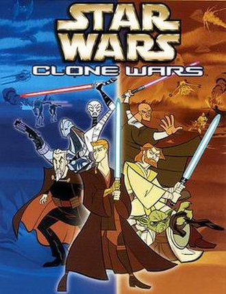 Star Wars: Clone Wars (2003 TV series) - Cover art for the first volume of Star Wars: Clone Wars