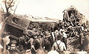 Corning train wreck - Wreckage of Corning train wreck