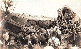 Corning train wreck - Wreckage of Corning train wreck