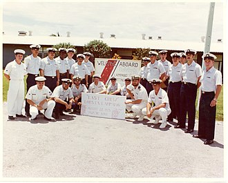 Thad Allen - Allen and his crewmen in August 1975 (front row, second from the right).