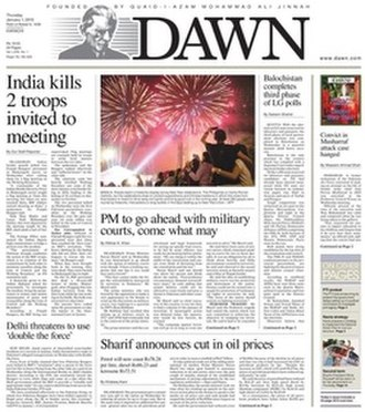 Dawn (newspaper) - Image: DAWN newspaper