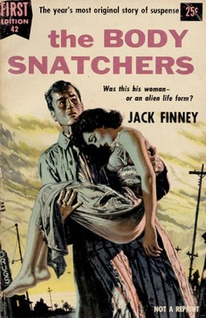 The Body Snatchers - First edition cover illustrated by John McDermott