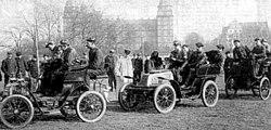 First German driving school in 1906, Aschaffenburg