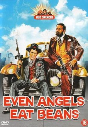 Even Angels Eat Beans - Original DVD cover - Art by Renato Casaro