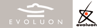 Evoluon - Current (left) logo of the conference centre and logo (right) of the original museum.