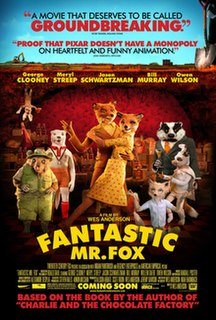 <i>Fantastic Mr. Fox</i> (film) 2009 stop-motion animated film directed by Wes Anderson