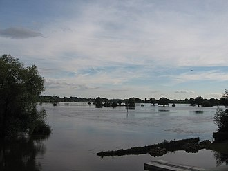 2007 United Kingdom floods - Severe flooding in Tewkesbury
