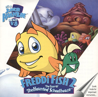 Freddi Fish 2: The Case of the Haunted Schoolhouse - Cover art