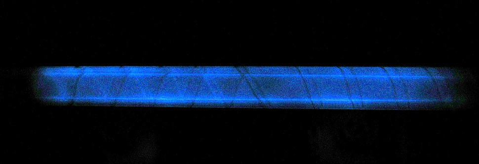 Fused silica phosphorescence from a 24 million watt flash