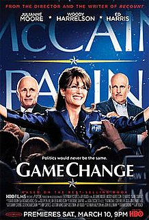 <i>Game Change</i> (film) 2012 television film directed by Jay Roach