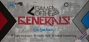 Game of the Generals - Image: Game of the Generals box cover