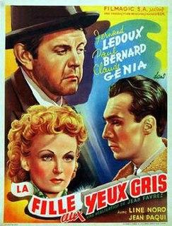 <i>Girl with Grey Eyes</i> 1945 film by Jean Faurez