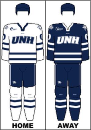 New Hampshire Wildcats men's ice hockey - Image: HE Uniform UNH