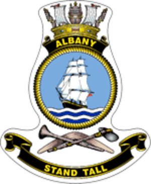 HMAS Albany (ACPB 86) - Ship's badge